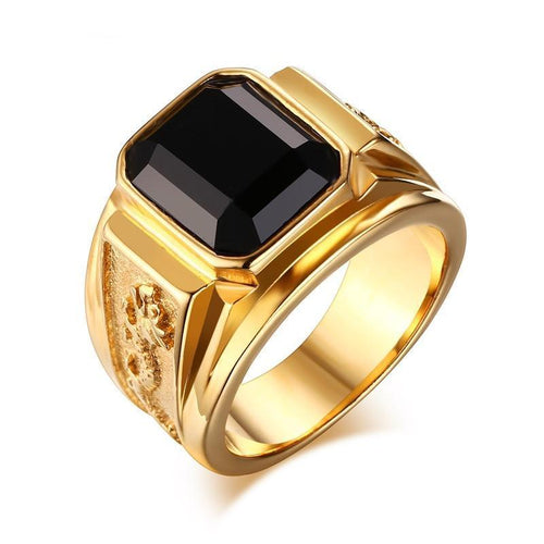 Dragon Ring For Men -  CZ Stone, Stainless Steel - GiftWorldStyle - Luxury Jewelry and Accessories