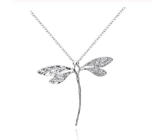 Dragonfly Necklace Pendant Silver Plated Pendant For Women Necklace Jewelry