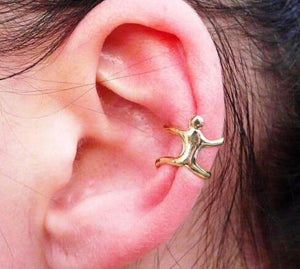 Earrings Ear Clip Climbing Man Naked Climber Ear Cuff Helix Ear Cartilage Earrings