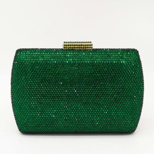 Crystal Evening Handbags From Hard Metal With Diamond - GiftWorldStyle - Luxury Jewelry and Accessories
