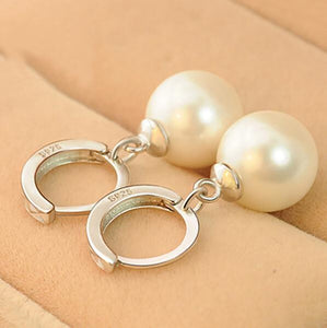 Elegant Pearl Hook Dangle Earrings For Women