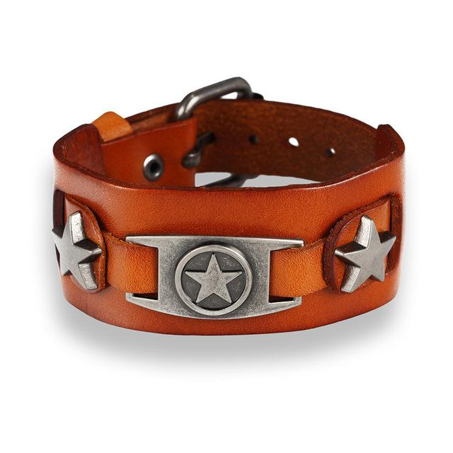 Endless August Star Genuine Leather Bracelet