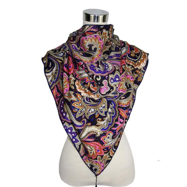 Ethnic Triangle Scarf From Soft Cotton In Boho Style - GiftWorldStyle - Luxury Jewelry and Accessories