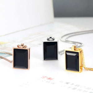 Female Necklace Classic Exquisite Square Big Black Crystal Pendant Fine Jewelry For Women - GiftWorldStyle - Luxury Jewelry and Accessories
