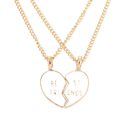 Friendship Broken Heart Best Friend You And Me Alloy Clavicle Pendant Necklace Jewelry