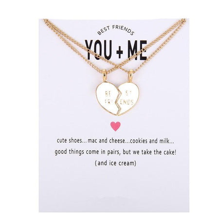 Friendship Heart Necklace, You And Me Alloy Clavicle - GiftWorldStyle - Luxury Jewelry and Accessories