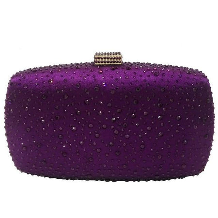 Crystal Evening Bag With Colorful Diamonds And Slot Pocket - GiftWorldStyle - Luxury Jewelry and Accessories