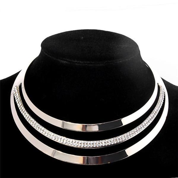 Full Crystal Choker Necklace Exaggerated Choker Collar Jewelry For Women