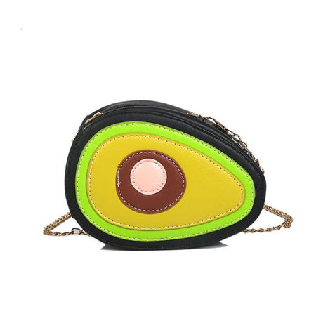 Fun Fruit  Peach Watermelon Avocado Pu Leather Ladies Shoulder Bag Tote Crossbody Flap Handbag