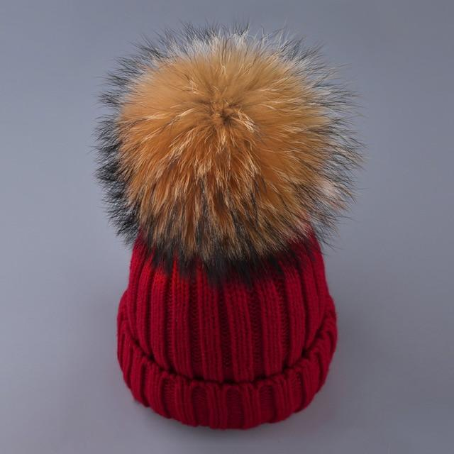 Fur Ball Cap Pom Poms Winter Hat Women Knitted Hat Skullies Beanies Female - GiftWorldStyle - Luxury Jewelry and Accessories