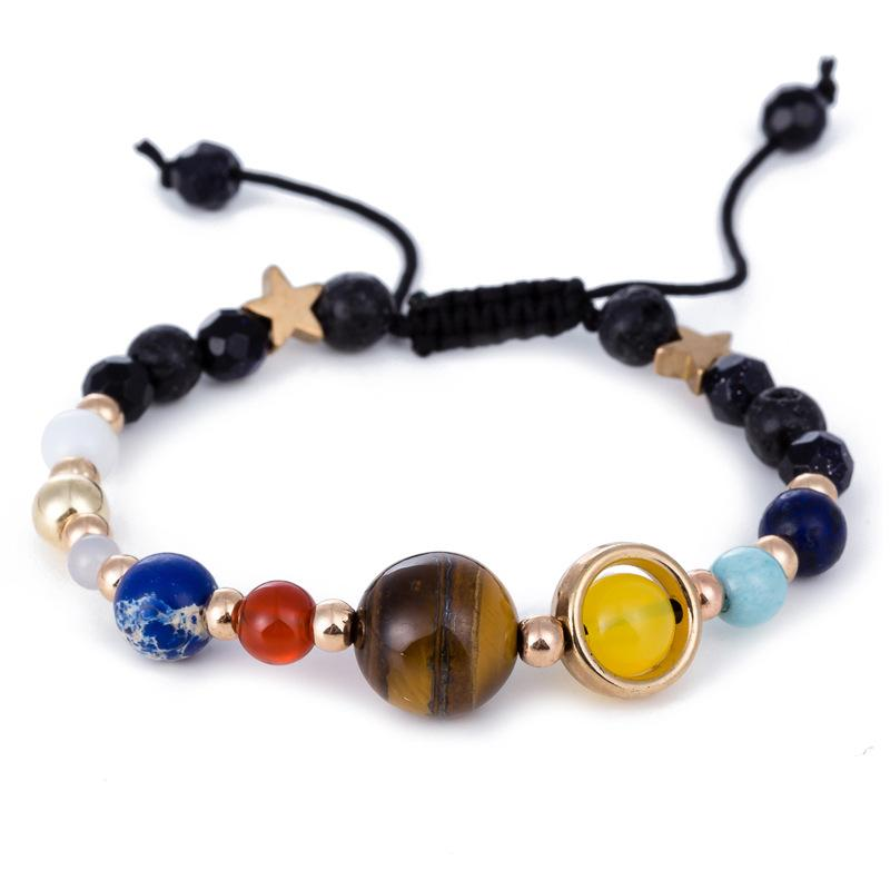 Bracelet With Planets And Stone Solar System Stone - GiftWorldStyle - Luxury Jewelry and Accessories