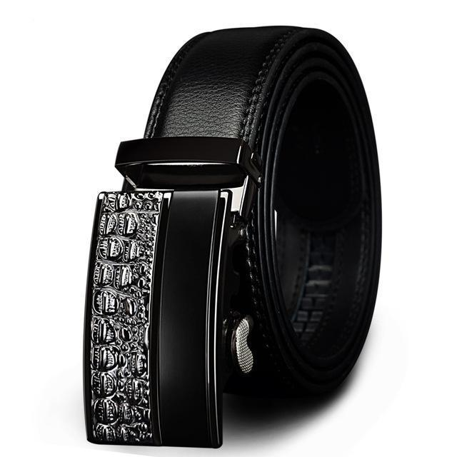 Genuine Leather Belt For Men Metal Automatic Buckle