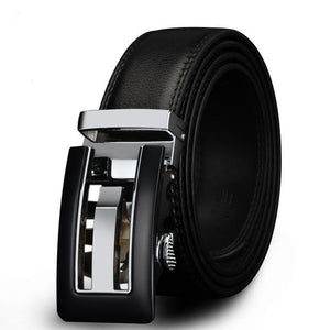 Genuine Leather Belt For Men With Metal Automatic Buckle