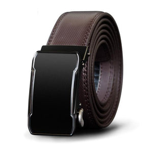 Genuine Leather Belt With Automatic Alloy Buckle - Cowhide