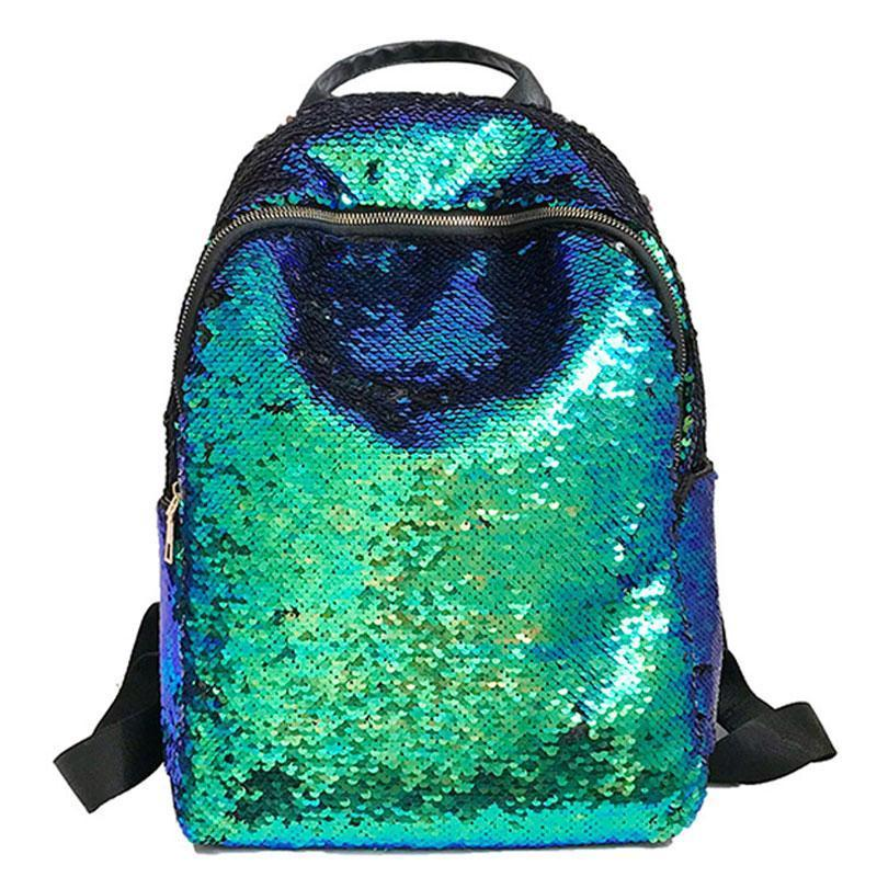 Glitter Bling Sequins Backpack Women Capacity Leather Backpack For Girls Travel School Bags