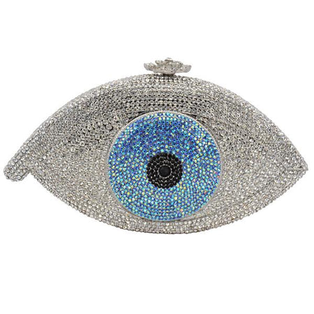 Evil Eye Clutch Bag With Luxury Crystal And Synthetic Leather - GiftWorldStyle - Luxury Jewelry and Accessories