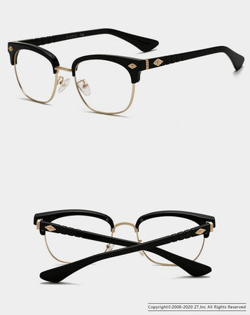 Gold Glasses Frames Vintage Eyeglasses Women And Men Clear Lens Plain Mirror - GiftWorldStyle - Luxury Jewelry and Accessories