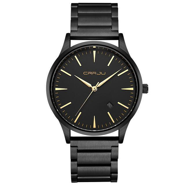 Gold Watch Men Business Man Watch Golden Waterproof Quartz Male Dress Clock