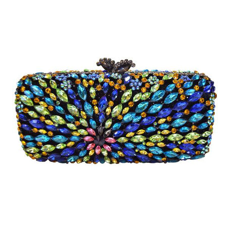 Crystal Evening Bag With Key Chain Holder From Metallic - GiftWorldStyle - Luxury Jewelry and Accessories