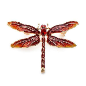 Green Purple Enamel Dragonfly Insects Brooches Alloy Metal Banquet Weddings Brooches Pins