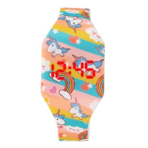 Horse Cartoon Children's Watches Cute Girl's Wrist Watch Quartz Analog Student Clock unicorn Watch - GiftWorldStyle - Luxury Jewelry and Accessories
