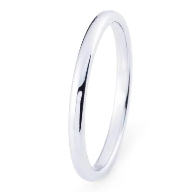 Jewelry 2mm Width Tungsten Ring Female Charms Ring Wedding Band Ring For Women Lovers Party Ring