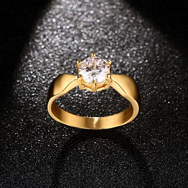 Ladies Prong Setting CZ Engagement Rings Wedding Bands - GiftWorldStyle - Luxury Jewelry and Accessories