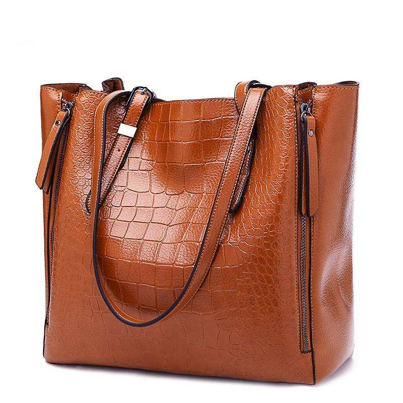 Ladies PU Leather Handbag - Large Capacity - GiftWorldStyle - Luxury Jewelry and Accessories