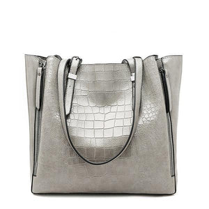 Ladies PU Leather Handbag - Large Capacity
