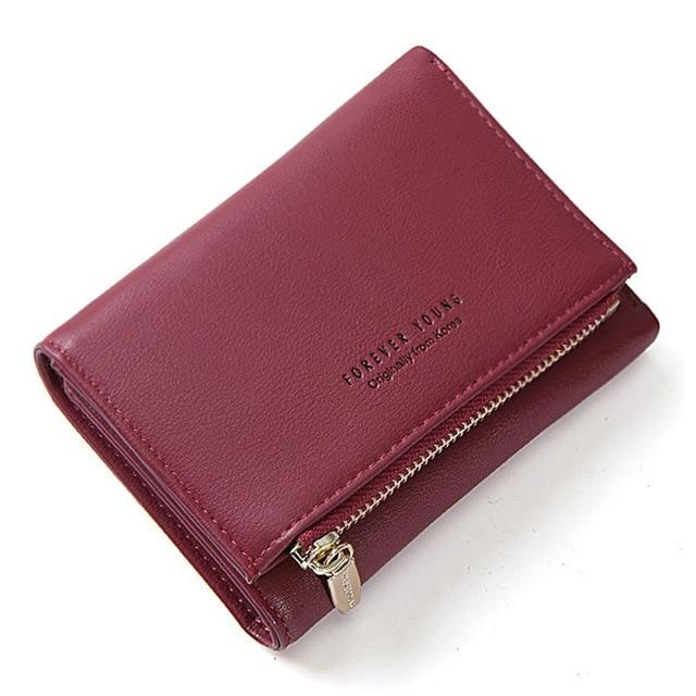 Ladies Wallet With Zipper - Card Holder And Coin Pocket
