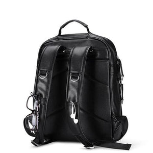 Leather Backpack Men External USB Charge Laptop Bag 15.6Inch Waterproof Computer - GiftWorldStyle - Luxury Jewelry and Accessories