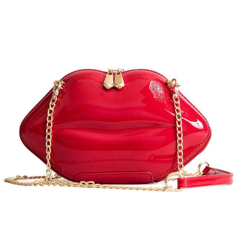 Lips Shaped Ladies Shoulder Handbag - Mini Bag With Zip - GiftWorldStyle - Luxury Jewelry and Accessories