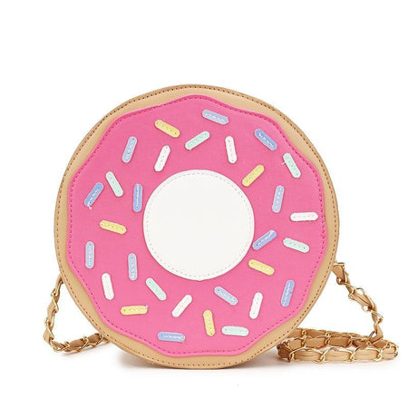 Lovely Mini-Donuts Chain Purse Shoulder Bag Ladies Handbag Crossbody Messenger Bag