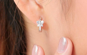 Luxury Butterfly Stud Earrings - Crystals