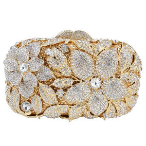 Luxury Crystal Diamond Evening Clutch Bag - Flower Bag - GiftWorldStyle - Luxury Jewelry and Accessories