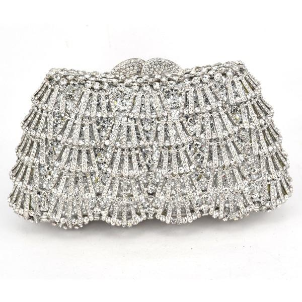 Luxury Crystal Evening Clutch Bag - Rhinestone Wedding Purse