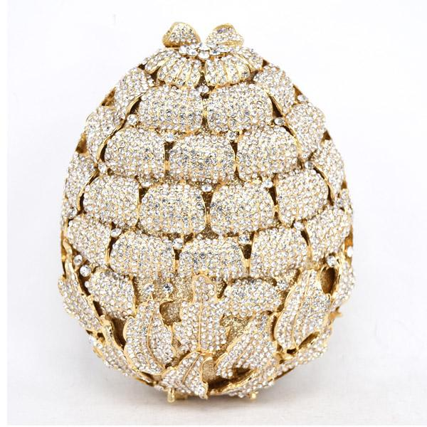 Luxury Diamond Strawberry Evening Clutch Bag Party Purse Wedding Bag Ladies Crystal Evening Cocktail Handbag
