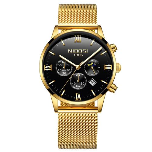 Luxury Golden Analog Quartz Watch - Luminous, Back Light - GiftWorldStyle - Luxury Jewelry and Accessories