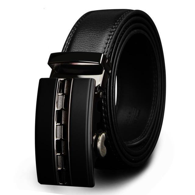 Luxury Leather Belt for Men Metal Automatic Buckle - GiftWorldStyle - Luxury Jewelry and Accessories
