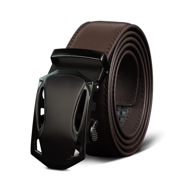 Luxury Leather Belt For Men Metal Automatic Buckle