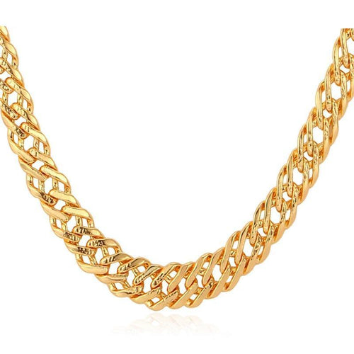 Male Chain Necklace Trendy Jewelry 5MM Gold/Silver/Rose Gold/Black Color Italian Link Chain Necklace Men