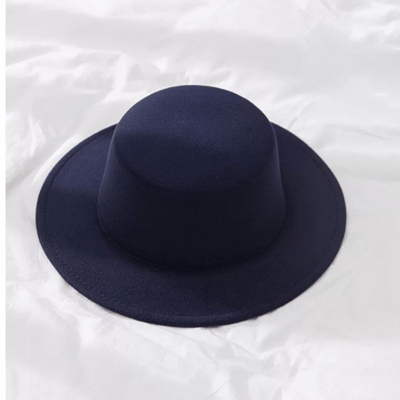Men Fedoras Solid Wool Felt Hat Wide Brim Flat Outdoor Church Cap Casual Male Autumn Hats - GiftWorldStyle - Luxury Jewelry and Accessories