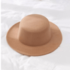 Men Fedoras Solid Wool Felt Hat Wide Brim Flat Outdoor Church Cap Casual Male Autumn Hats