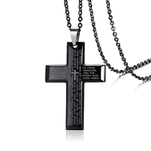 Men's Cross Stainless Steel Pendant Necklace