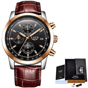 Men's Luxury Quartz Wrist Waterproof Watch - Luminous Hands - GiftWorldStyle - Luxury Jewelry and Accessories