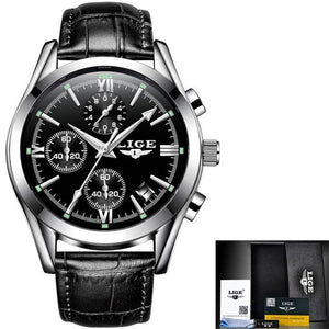 Men's Quartz Full Steel Watch - Three Sub Dials, Water Resistant - GiftWorldStyle - Luxury Jewelry and Accessories
