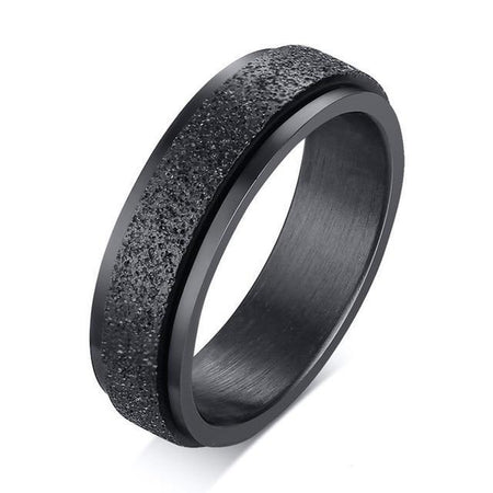 Men's Spinner Ring Sandblast - Stainless Steel - GiftWorldStyle - Luxury Jewelry and Accessories