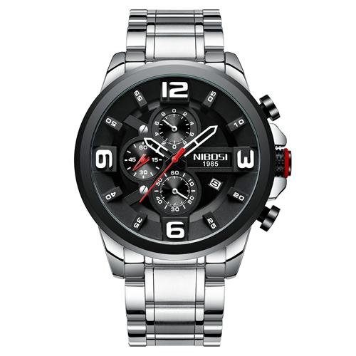 Men Watches Quartz Wrist Watch Big Dial Stainless Steel Sport Watch - GiftWorldStyle - Luxury Jewelry and Accessories