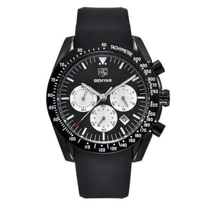 Military Waterproof Chronograph Wrist Quartz Watch - Silicone Strap - GiftWorldStyle - Luxury Jewelry and Accessories