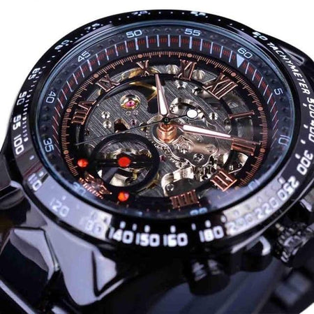 Men's Watch With Automatic Skeleton Dial And Bracelet Clasp - GiftWorldStyle - Luxury Jewelry and Accessories